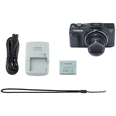 "Buy Canon PowerShot SX700 HS Digital Camera, HD 1080p, 16.1MP, 30x Optical Zoom, NFC, Wi-Fi, 3"" LCD Screen Online at johnlewis.com"