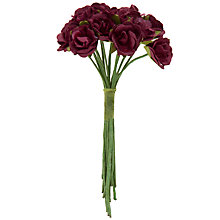 Buy John Lewis Sonia Roses Bridal Accessory, Burgundy Online at johnlewis.com