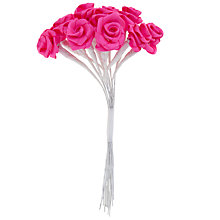 Buy John Lewis 12mm Ribbon Roses, Pack of 12 Online at johnlewis.com