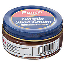 Buy Punch Classic Shoe Cream, Brown Online at johnlewis.com