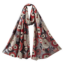 Buy East Nobu Floral Scatter Print Scarf, Brown Online at johnlewis.com
