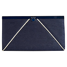 Buy Jacques Vert Frame Clutch Handbag, Navy Online at johnlewis.com