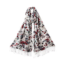 Buy East Bird Bonzai Print Scarf, Pearl Online at johnlewis.com