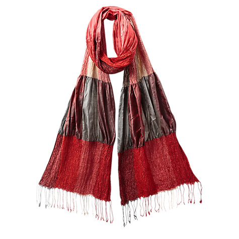 Buy East Silk Blend Ruched Scarf Online at johnlewis.com