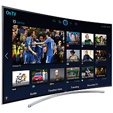 "Buy Samsung UE55H8000 Curved LED HD 1080p 3D Smart TV, 55"" with Freesat/Freeview HD & 2x 3D Glasses with Sound Bar & Wireless Subwoofer, Black Online at johnlewis.com"