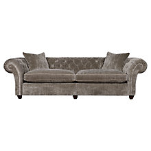 Buy Spirit Duke Grand Sofa, Sloane Velvet White Gold Online at johnlewis.com