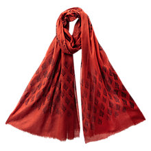 Buy East Sheer Cotton Booti Print Scarf, Henna Online at johnlewis.com