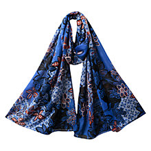 Buy East Mahika Print Scarf, Blue Online at johnlewis.com