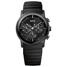 Buy BOSS 21512639 Men's Chronograph Silicone Strap Watch, Black Online at johnlewis.com