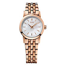 Buy BOSS 21502362 Women's Mother of Pearl Dial Bracelet Strap Watch, Rose Gold Online at johnlewis.com
