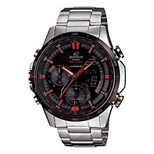 Buy Casio ERA-300DB-1AVER Men's Edifice Neon Compass Thermometer Watch, Silver Online at johnlewis.com