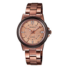 Buy Casio SHE-4512BR-9AUER Women's Sheen Watch, Rose Gold Online at johnlewis.com