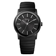 Buy BOSS 21512742 Men's Silicone Strap Watch, Black Online at johnlewis.com