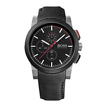 Buy BOSS 21512979 Men's Chronograph Rubber Strap Watch, Black Online at johnlewis.com