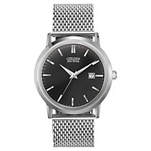 Buy Citizen BM7190-56H Men's Eco-Drive Date Display Mesh Bracelet Watch, Silver Online at johnlewis.com