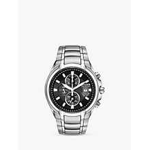 Buy Citizen CA0260-52E Men's Eco-Drive Titanium Chronograph Bracelet Strap Watch, Silver/Black Online at johnlewis.com
