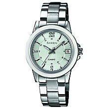 Buy Casio SHE-4512 Women's Sheen Crystal Watch Online at johnlewis.com