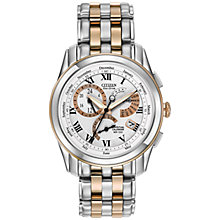 Buy Citizen BL8106-53A Men's Calibre 8700 Alarm Chronograph Two-Tone Watch, Silver / Gold Online at johnlewis.com