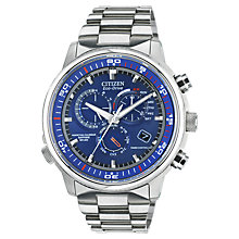 Buy Citizen AT4110-55L Men's Nighthawk A-T Stainless Steel Watch, Silver Online at johnlewis.com