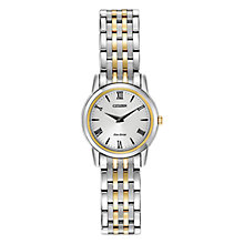 Buy Citizen EG3048-58A Women's Stiletto Mini Stainless Steel Watch, Silver/Gold Online at johnlewis.com