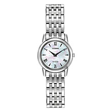 Buy Citizen EG3040-50D Women's Stiletto Mother of Pearl Dial Watch, Silver Online at johnlewis.com