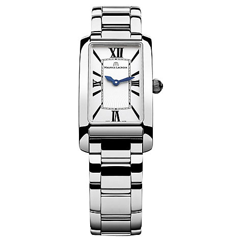 Buy Maurice Lacroix FA2164-SS002-116 Women's Stainless Steel Bracelet Strap Watch, Silver/White Online at johnlewis.com