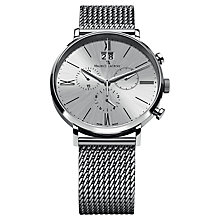 Buy Maurice Lacroix EL1088-SS002-110 Men's Stainless Steel Mesh Bracelet Watch, Silver Online at johnlewis.com