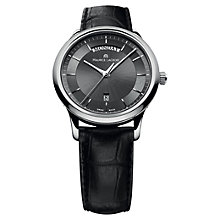 Buy Maurice Lacroix LC1227-SS001-330 Men's Grey Dial Mock Croc Leather Strap Watch Online at johnlewis.com