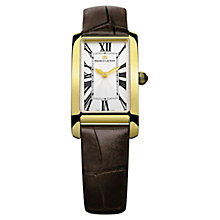 Buy Maurice Lacroix FA2164-PVY01-114 Women's Rectangular Croc Leather Strap Watch Online at johnlewis.com