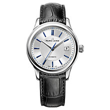 Buy Maurice Lacroix LC6027-SS001-133 Men's Croc Leather Strap Watch, Silver Online at johnlewis.com
