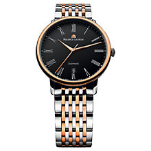 Buy Maurice Lacroix LC6067-PS103-310 Men's Rose Gold And Stainless Steel Bracelet Watch Online at johnlewis.com