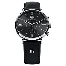 Buy Maurice Lacroix Men's Round Dial Leather Strap Watch Online at johnlewis.com