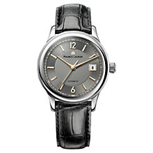 Buy Maurice Lacroix LC6027-SS001-320 Men's Grey Dial Mock Croc Leather Strap, Black Online at johnlewis.com