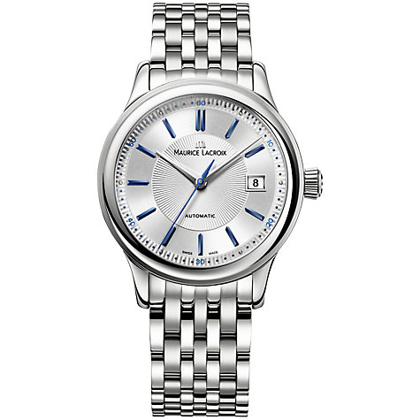 Buy Maurice Lacroix LC6067-PS101-310 Men's Les Classiques Automatic Stainless Steel Watch, Silver Online at johnlewis.com