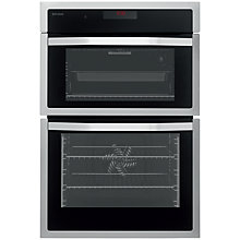 Buy John Lewis JLBIDO914 Double Electric Oven, Stainless Steel Online at johnlewis.com