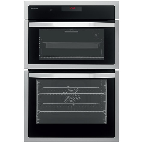 buy john lewis jlbido914 double electric oven stainless. Black Bedroom Furniture Sets. Home Design Ideas