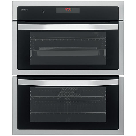 buy john lewis jlbidu713 double built under electric oven. Black Bedroom Furniture Sets. Home Design Ideas