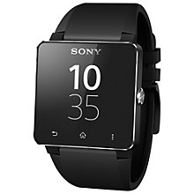 Buy Sony SmartWatch 2 SW2 Smartwatch with Black Silicon Wristband Online at johnlewis.com