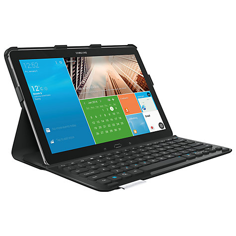 "Buy Logitech PRO Keyboard Case for Samsung Galaxy NotePRO and TabPRO 12.2"", Black Online at johnlewis.com"