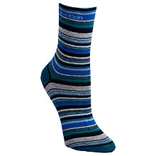 Buy Calvin Klein Bar Stripe Ankle Socks, Blue Essence Online at johnlewis.com
