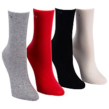 Buy Calvin Klein Holiday Bonus Cotton Mix Ankle Socks, Pack of 3 Online at johnlewis.com