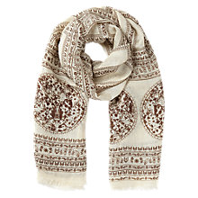 Buy Jigsaw Columbia Scarf, Brown Online at johnlewis.com