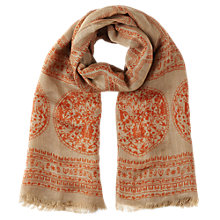 Buy Jigsaw Columbia Scarf, Orange Online at johnlewis.com