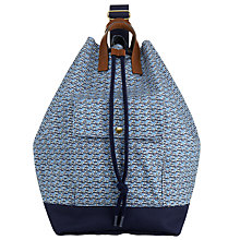 Buy Orla Kiely Yacht Print Duffle Bag, Blue/Navy Online at johnlewis.com