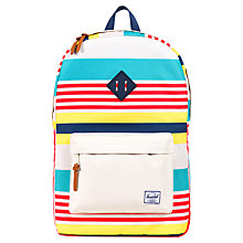 Buy Herschel Heritage Malibu Backpack, Cream/Multi Online at johnlewis.com