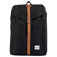 Buy Herschel Supply Co. Post Backpack, Black Online at johnlewis.com