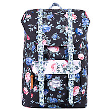 Buy Herschel Little America Fine China Floral Backpack, Black/Multi Online at johnlewis.com