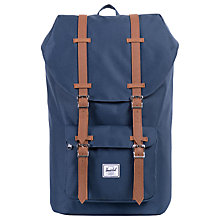 Buy Herschel Little America Backpack, Navy Online at johnlewis.com