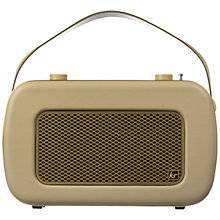 Buy KitSound Jive DAB/FM Portable Radio, Cream Online at johnlewis.com