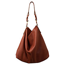 Buy East Leather Hobo Handbag, Tan Online at johnlewis.com